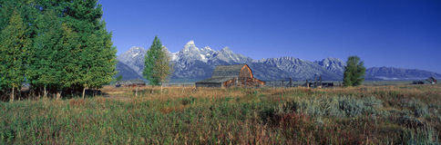 Pioneer Farm. In Grand Teton National Park, Wyoming stock photo