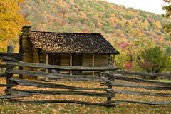 Pioneer Homestead in Autumn Royalty Free Stock Images