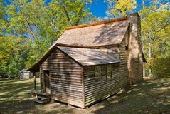 Pioneer house on Cades Cove trail Stock Photography