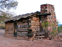 Old West Cabin Royalty Free Stock Images