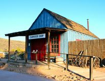 Typical Old West Carpenter Shop Building. Typical carpenter shop of the old west Royalty Free Stock Photo