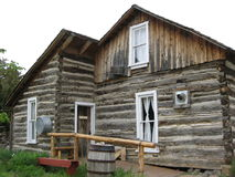Pioneer Log Cabin Stock Photography