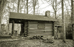 Pioneer Log Cabin Stock Photo