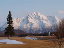 Pioneer Peak in Alaska stock image
