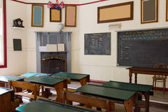 Pioneer school, Australia. Interior of a pioneer school from the 1800's in Australia royalty free stock image