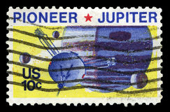 Pioneer 11 Space Probe Postage Stamp Stock Photography