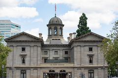 Pioneer square courthouse in downtown Portland royalty free stock images