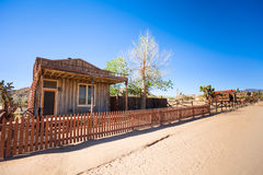 Pioneer town buildings on the unpaved street Royalty Free Stock Images