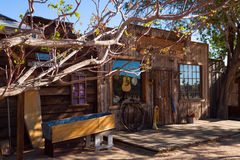 Pioneer town props buildings styled for wild west Stock Photography