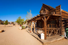 Pioneer town street with decorations Stock Images