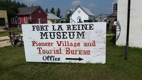 Free Pioneer Village Office Sign, Fort La Reine Museum, Portage La Prairie MB Royalty Free Stock Photography - 105285287