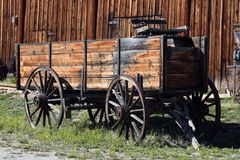 Pioneer Wagon. This is a pioneer wago that can be found in a preserved Colorado pioneer town Royalty Free Stock Images
