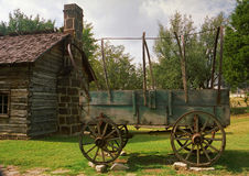 Pioneer wagon Stock Images