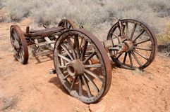 Pioneer Wagon Wheels Royalty Free Stock Photo