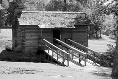 Pioneer Wood Cabin. Old pioneer wood cabin from the 1800's Royalty Free Stock Images
