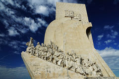 Pioneers Monument in Lisbon, Portugal.  Royalty Free Stock Photos