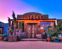 Pioneertown,丝兰谷,加州大厦 免版税库存图片