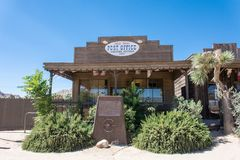 PIONEERTOWN, CALIFORNIA: A functioning post office in the California desert. PIONEERTOWN, CALIFORNIA: A functioning post office in the ghost town of Pioneertown royalty free stock images