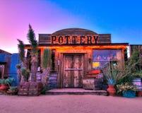 Pioneertown, Yuccavallei, CA-de Bouw Royalty-vrije Stock Afbeeldingen
