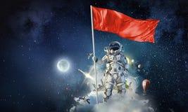 Pioneiro do espaço Meios mistos Fotografia de Stock Royalty Free