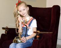 Pionier des kleinen Mädchens Lizenzfreie Stockfotografie