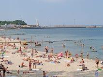 PIONIER, ROSJA Miasto plaża w słonecznym dniu Obrazy Stock