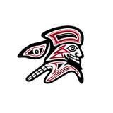 Pioniere nel vettore pacifico di stile del nativo americano illustrazione vettoriale