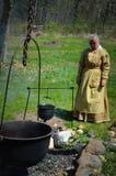 Pionierfrauen-Kochen Stockfotografie
