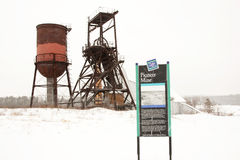 Pioniergrube Stockbild