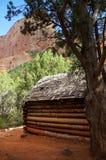 Pionierkabine in Kolub-Schluchten, Zion National Park, Utah, USA Lizenzfreie Stockbilder