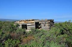 Pionierska kabina w zachodzie Obraz Royalty Free