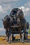 pionierska statua Fotografia Royalty Free