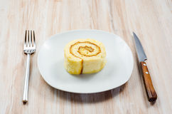 Pionono är den typiska spanska sötsaken Royaltyfria Foton