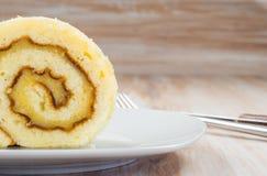 Pionono, χαρακτηριστικό ισπανικό γλυκό Στοκ εικόνα με δικαίωμα ελεύθερης χρήσης