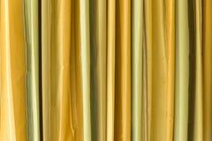 Pionowo Żółta brzmienie zasłona zdjęcia stock