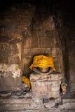 Pionowo bezgłowa Buddha statua w starej świątyni w Lopburi, Thaila Obrazy Stock