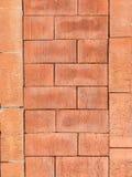 Pionowo i horyzontalna cegły ściana Obrazy Royalty Free