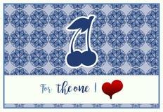 Pionowo karta dla stValentine ` s dnia z powitaniem Dla jeden kocham royalty ilustracja