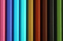 Pionowo kolorów ołówków widma gradientowa tekstura Zdjęcie Stock