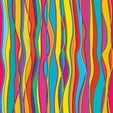 Pionowo kolor linii pełni bezszwowy wzór ilustracja wektor