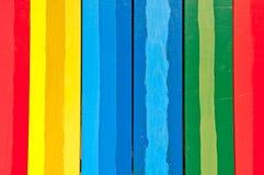 Pionowo kolorowe deski Obrazy Stock