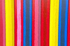 Pionowo kolorowe deski Zdjęcia Stock