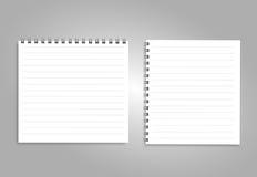 Pionowo notatnik z czerni spiralą, odosobnioną na czystym bielu Obrazy Royalty Free