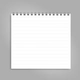 Pionowo notatnik z czerni spiralą, odosobnioną na czystym bielu Obraz Royalty Free