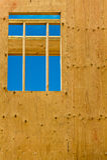 pionowo okno Zdjęcie Stock