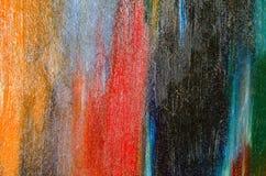 Pionowo patki akwareli farba na kanwie Zdjęcia Royalty Free