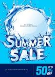 Pionowo Plakatowy lato sprzedaży tło ilustracji