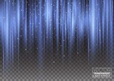 Pionowo Pofalowani Pulsing promienie Wektorowy Abstrakcjonistyczny tło zorzy Borealis Lekkiego skutka Kolorowe purpury i fiołek Zdjęcie Royalty Free