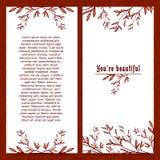 Pionowo szablonu kartka z pozdrowieniami z miejscem dla Ilustracji