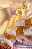 Pionowo szczegół sól torta bary z bekonem Zdjęcie Stock